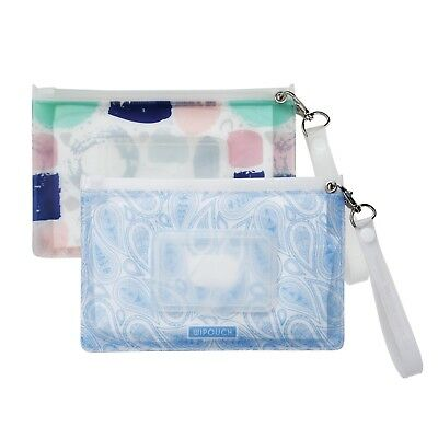 WIPOUCH™ Colours & Paisley Refillable Wet Wipes Pouch Set of 2 WIPOUCH30 Express