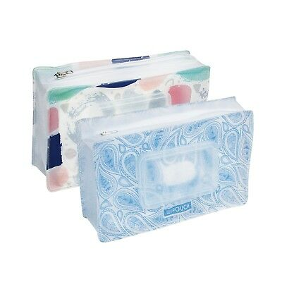 WIPOUCH™ Colours & Paisley Refillable Wet Wipes Pouch Set of 2 WIPOUCH60 Express