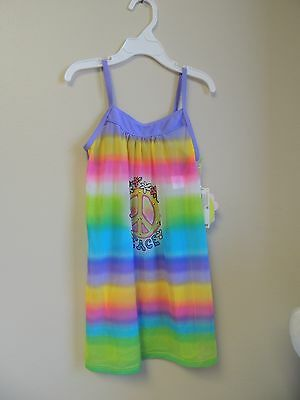 Hula Star Size 3T Toddler Peace Colorful Bling Swimsuit Coverup NWT Girls
