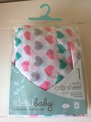 ideal baby by the makers of aden + anais Crib Sheet PRETTY SWEET New in package