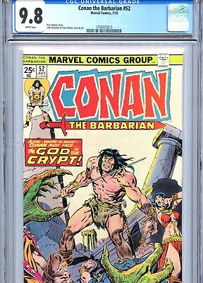 Conan the Barbarian #52 CGC 9.8 White Pages Marvel Comics 1975