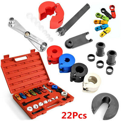 22Pcs Car Air Conditioning Fuel Line Disconnect Tool+Rubber Band Set For Ford GM
