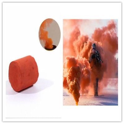 Orange Smoke Cake Smoke Effect Show Round Bomb Photography Aid Toy Divine Hot