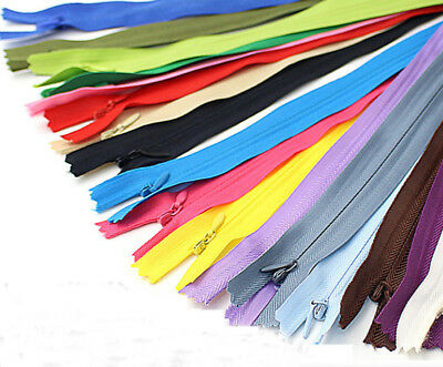 10 Colors DIY  Invisible Zipper for purse or bags manufacture 28 40 50 60CM