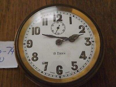Vintage 8 Day Travel Time Piece Working