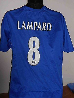 chelsea home shirt (2004 2005 lampard 8) large mens wth champions patches 1 of