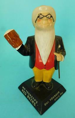 Original YOUNGERS KEG BEER Vulcanized Rubber Advertising Bar Figure c1950s?