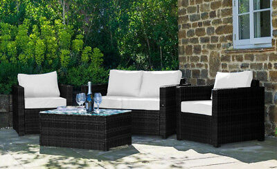 Conservatory Set Rattan Chair Sofa Table Garden Furniture Patio Cushions Mixed