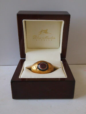 Gold ring; band agate; Ancient Greece; C3rd/4th. Certificated