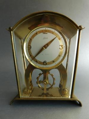 Gorgeous Quality Mid Century German Schatz & Sohne 8 Day Clock in Carriage style
