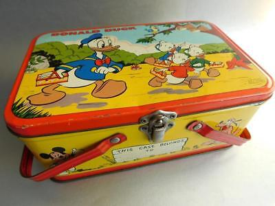 Rare DONALD DUCK Disney Lunch Box made in Australia Fyna Foods Confectionery