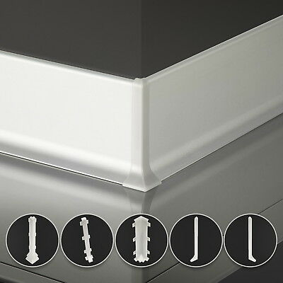 80mm x 13mm 2.5m SKIRTING BOARDS aluminium floor-wall joint cover gap profile