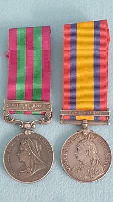 Gordan H'landers Medal Pr 2nd IGS Relief Chitral 1895 & QSA Cape Colony w Papers