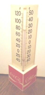 Vintage 1970's Coca Cola 2 Sided Triangular Fahrenheit Celsius Thermometer Works