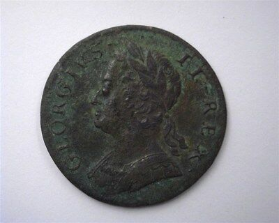 GREAT BRITAIN 1749 HALF PENNY  EXTREMELY FINE  C#2b