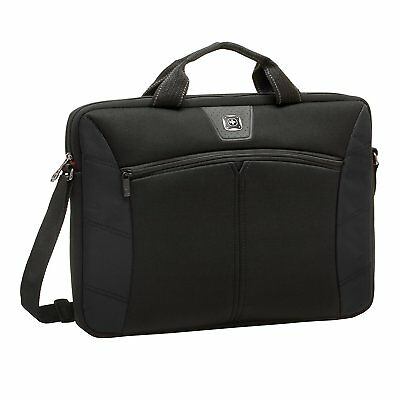 Wenger Sherpa Slim Black 14.1 inch Laptop Netbook Computer Bag Durable