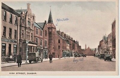 Early DUNBAR High Street - shops, Police Station,, George Hotel
