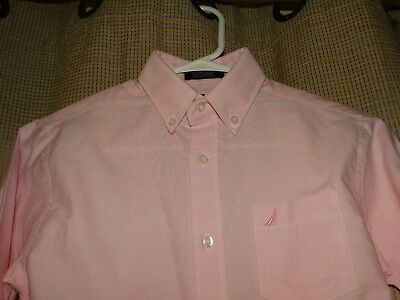 NWT new NAUTICA boys sz 10 pink oxford shirt long sleeved MACYS logo