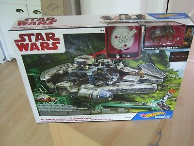 STAR WARS -  Hot Wheels  - Millenium Falcon Chewbacca Car Mattel  - Neu OVP