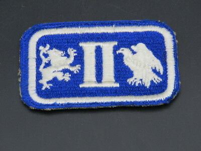 Original Scarce 2Nd Corps Patch With Reversed Lion And Eagle-White Back