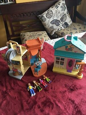 Fisher Price Sweet Streets lot DINNER & SHOW MOVIE THEATER & General Store