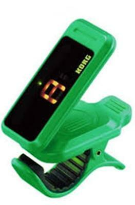 Korg Pitchclip Clip-On Chromatic Tuner - For Guitar Or Bass - Green