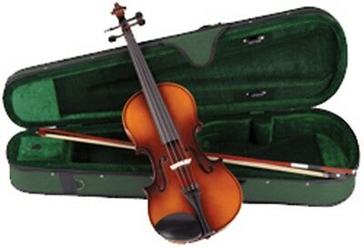 Antoni Debut 3/4 Sized Violin Fiddle Outfit - Includes Case, Bow And Rosin