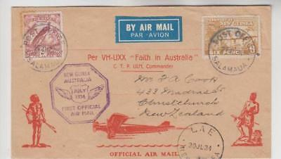 New Guinea First Official Airmail Cover