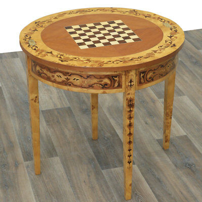 SCHACHTISCH, CHESS GAME TABLE ca.84cm Verwandlungstisch KONSOLE, DEMI LUNE TABLE