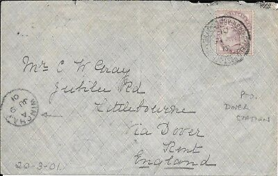 Boer War, G.b. Stamp Used  On Cover  Dover Station Office Receiver.
