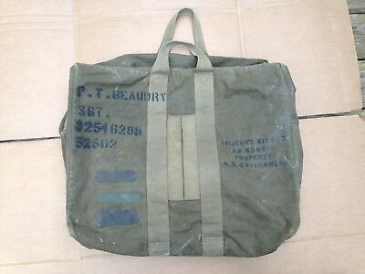 Vintage Wwii Era Property Us Government Army Aaf Aviator's Kit Bag An 6505-1 Ww2