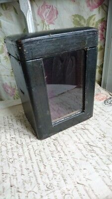 SUPERB ANTIQUE FRENCH TIMEWORN LEATHER CARRIAGE CLOCK CASE 19th century