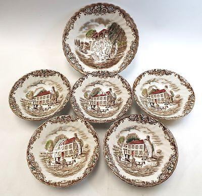 Collection of JOHNSON BROTHERS 'Heritage Hall' Ironstone Bowls   - W35