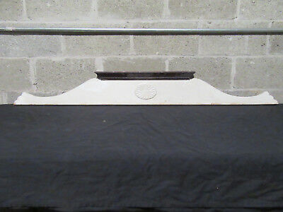 ~ Antique Carved Oak Pediment ~ 63 Inches Wide ~ Architectural Salvage ~