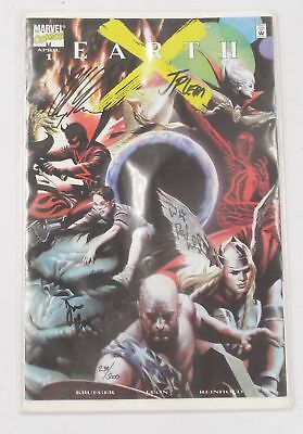 EARTH X #1 Comic Book Signed by ALEX ROSS, JIM KRUEGER & Others MARVEL - N22