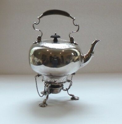 William Hutton & Sons Silver Plate Hot Water Kettle on Stand