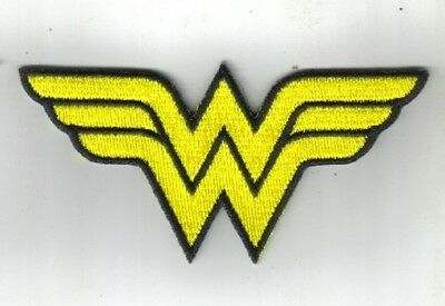 DC Comics Wonder Woman WW Chest Logo Embroidered Patch, NEW UNUSED
