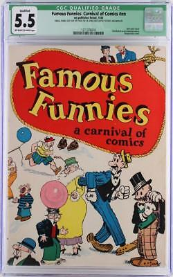 Famous Funnies: Carnival of Comics #nn - CGC 5.5 FN- 1933 - 2nd Comic Book ever!