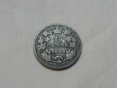 Canada, 1883 H, 25 Cents lot#R144