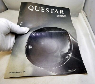 Questar Seven Telescope Cinema Accessory Filter Guide Brochure