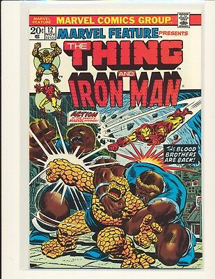 Marvel Feature # 12 - Thing, Iron Man & Thanos appearance VF Cond.