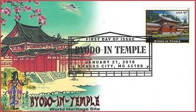 NEW USPS 2018 Priority Mail $6.70 Byodo-In-Temple First Day of Issue Cover