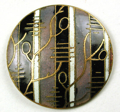 """Antique French Enamel Button Striped Champleve Wallpaper Design 1"""""""