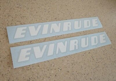 "Evinrude Outboard Motor Decals 2-PAK 12"" Die-Cut FREE SHIP + Free Fish Decal!"