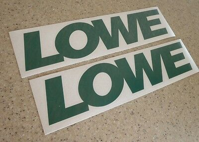 "Lowe Vintage Fishing Boat Decal Die-Cut 12"" 2-PAK FREE SHIP + FREE Fish Decal!"