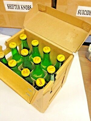 1950s ORIGINAL 7 oz.. SQUIRT 12 PACK CASE ALL THERE AND VERY RARE GREAT DISPLAY