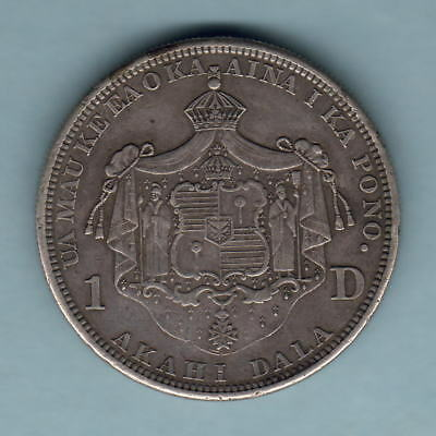 USA - Hawaii. 1883 Dollar..  VF/gVF