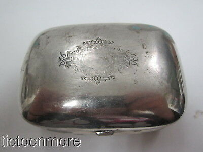 Antique French Silver Plate Maison Onmnes Toulouse Victorian Style Trinket Box