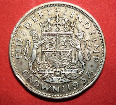 Great Britain :  Crown 1937.   0.500 Silver.