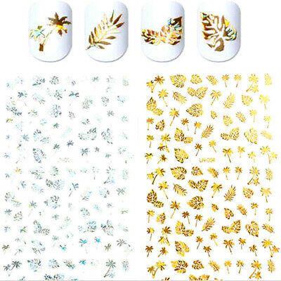 3D Nail Stickers Leaf Nail Transfer Decals Charms Nail Art Manicure Accessories